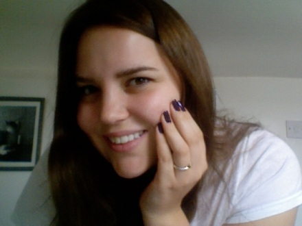 Sally Hansen's Diamond Strength in Deeply Violet seemed a perfect accompaniment to the new hair colour.
